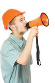 A young construction worker — Stock Photo