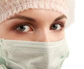 Doctora usar máscara — Foto de Stock