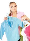 красивая женщина покупки — Стоковое фото