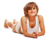 Joven mujer bronceada — Foto de Stock
