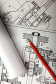Electrical drawing of house — Stock Photo