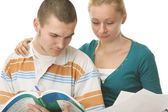 Young college boy and girl — Stock Photo
