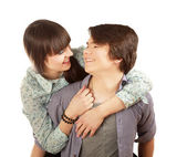 Young loving couple — Foto Stock