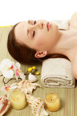 A young woman is lying during a spa treatment — Stock Photo