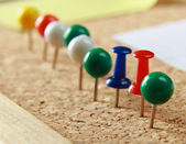 Close up of few push pins. — Stock Photo