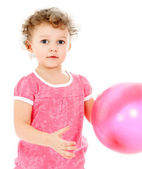 Child with the balloons. — Stock Photo