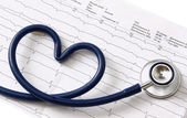 A stethoscope in a shape of heart — Stock Photo