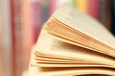 Close-up image of an open book — Стоковое фото