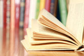 Close-up image of an open book — Foto Stock