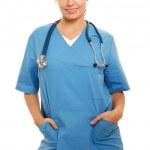 portret kobiety lekarz — Zdjęcie stockowe