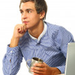 A young man thinking — Stock Photo