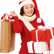 Young woman with Santa hat — Stock Photo #40365487