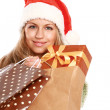 Young woman with Santa hat — Stock Photo #40378869