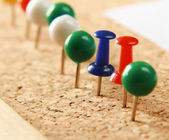 Close up of push pins — Stock Photo