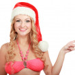 Woman in santa hat — Stock Photo #40382209