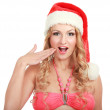 Woman in santa hat — Stock Photo #40382215