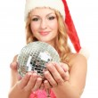 Woman in santa hat — Stock Photo #40382223