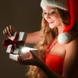 Woman with gift — Stock Photo #40382235