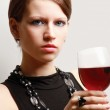 Young woman with a wineglass — Stock Photo #40383029