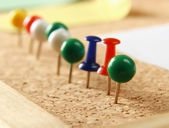 Close up of   push pins. — Stock Photo