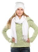 Woman dressed for winter — Stock Photo