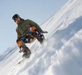 экстремальный сноубординг — Стоковое фото