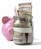 Dinero en tarro — Foto de Stock