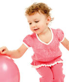 Child with the balloon — Stock Photo