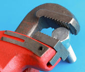 Closeup of adjustable wrench — Stock Photo