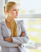 Business woman in modern building — Stock Photo