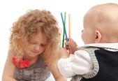 Niños de dibujo — Foto de Stock