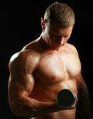 Hombre musculoso funcionando — Foto de Stock
