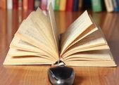 Bilgisayar fare ve masanın üzerine kitap — Stok fotoğraf