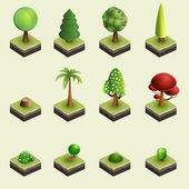 деревья и кустарники. — Cтоковый вектор