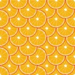 Seamless background with orange slices — Stock Vector