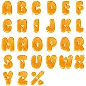 Orange fruit alphabet . — Stock Photo