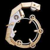 Iron mechanical number — Stock Photo