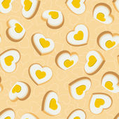 Seamless background with cookies in the shape of hearts — Stock Vector