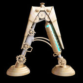 Alfabeto mecánico de hierro. — Foto de Stock