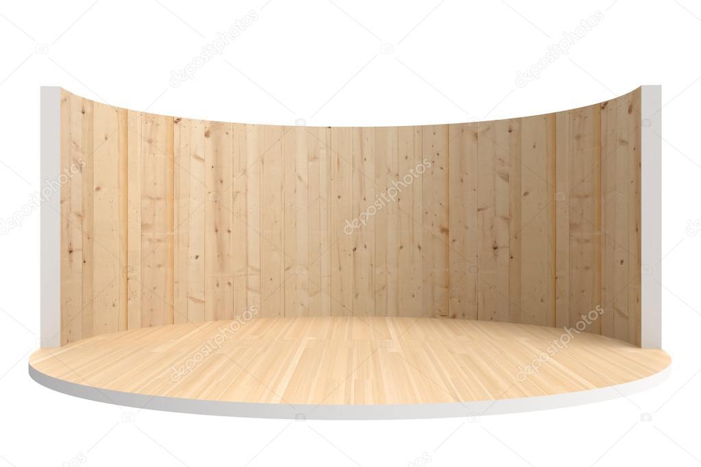 빈 무대 또는 나무 벽과 나무 바닥 방 — 스톡 사진 © vvvisual #46528259