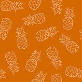 パイナップルとのシームレスなパターン — ストックベクタ