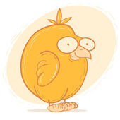Cartoon character chicken — Stock Vector