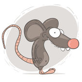 Cartoon character rat — Stock Vector
