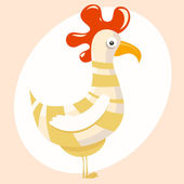 Cartoon rooster or chicken — Stock Vector