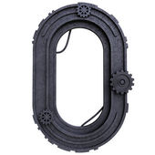Zero number of dirty metal black — Stock Photo