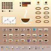 Infografica con caffè — Vettoriale Stock