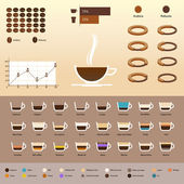 Infographics with coffee — Vecteur