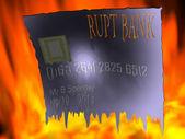 Schmelzende kreditkarte — Stockfoto