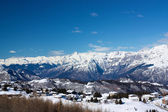 Monte Bondone in winter with snow — Stock Photo