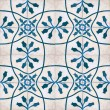 Patterns of flowers painted on tiles antique — Stock Photo